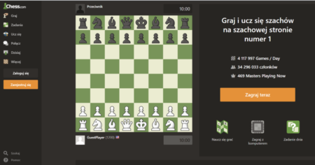 Graj w szachy online na chess.com